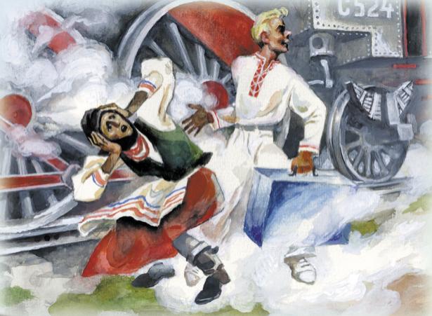 иллюстрация к произведению О. Вишня - Если бы моя бабушка встали (ukraine-0194)