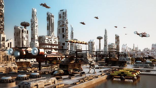 3D фотообои Транспорт будущего (3d13)