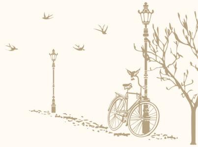 Фотообои прогулка на велосипеде (bedroom-00002)