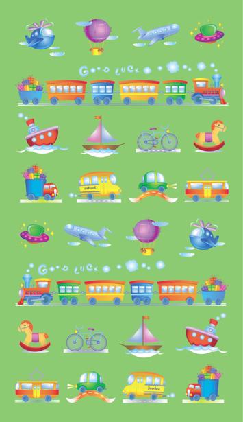 Фотообои машинки паровозики самолетики (children-0000124)