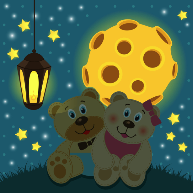 Мишка Тедди детские фотообои (children-0000302)