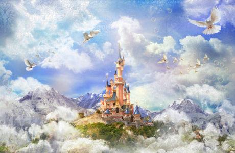 Фотообои замок в горах (children-0000409)