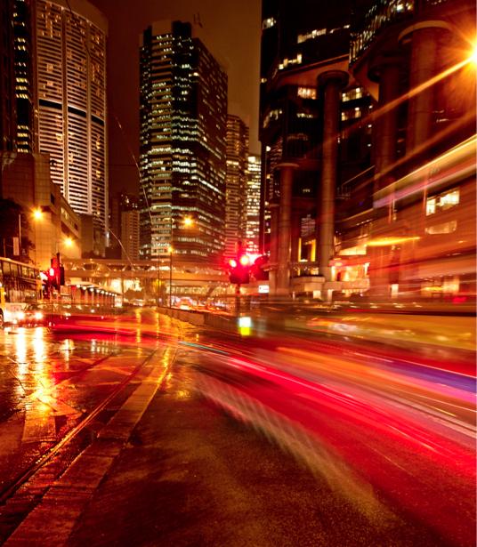 Фотообои Ночной мегаполис, мост, дорога (city-0000360)