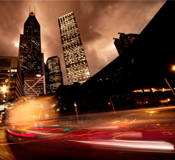 Фотообои Ночной мегаполис, мост, дорога (city-0000361)