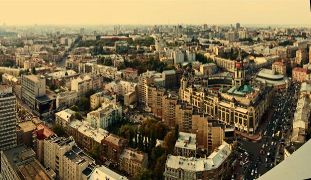 Фотообои Киев, Украина, панорама (city-0000424)