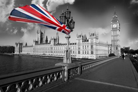 Фотообои флаг Великобритании Лондон (city-0001241)