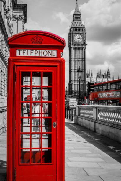 Фотообои Лондон Биг-Бен и телефон (city-0001246)