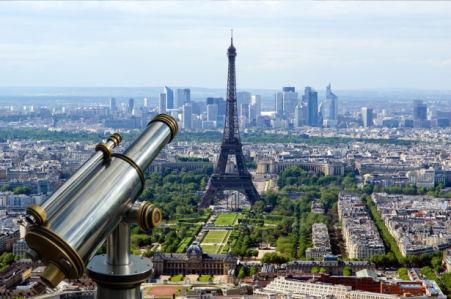 Фотообои Париж вид на город башня (city-0001280)