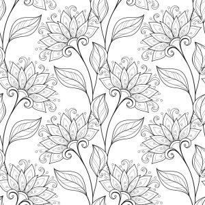 Обои раскраска Декоративные цветы (color-9)