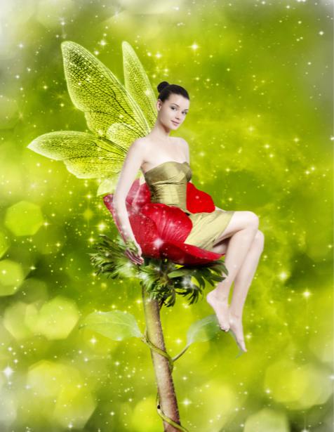 Фотообои цветочная фея (fantasy-0000133)
