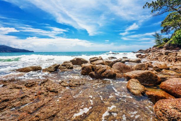 Фотообои прибой камни небо (nature-0000829)