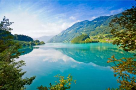 Фотообои с природой горное озеро фото (nature-00011)