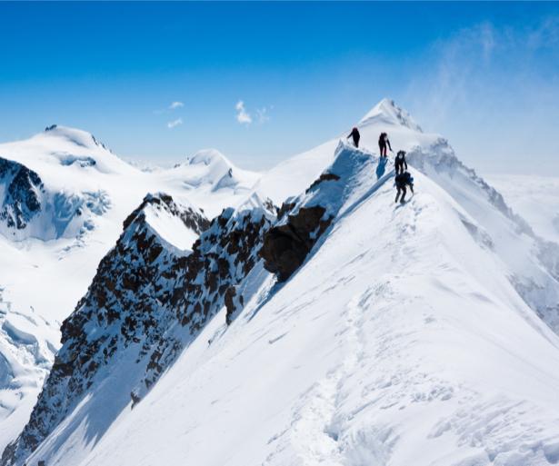 Фотообои горы зима вершины (nature-00497)