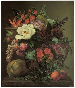 натюрморт с цветами и фруктами Йохан Беггров (pf-68)