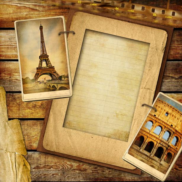 Фотообои открытки ретро (retro-vintage-0000158)