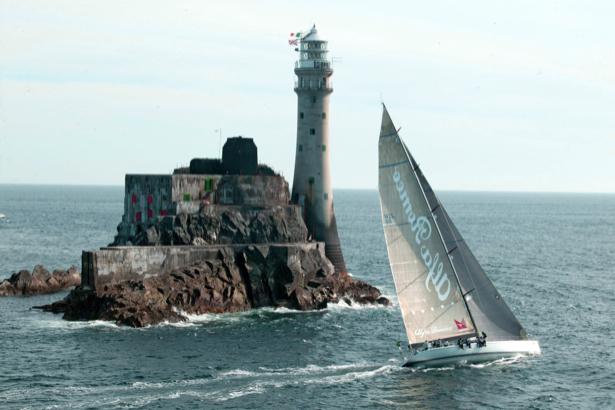 Фотообои море маяк и парусник (sea-0000229)