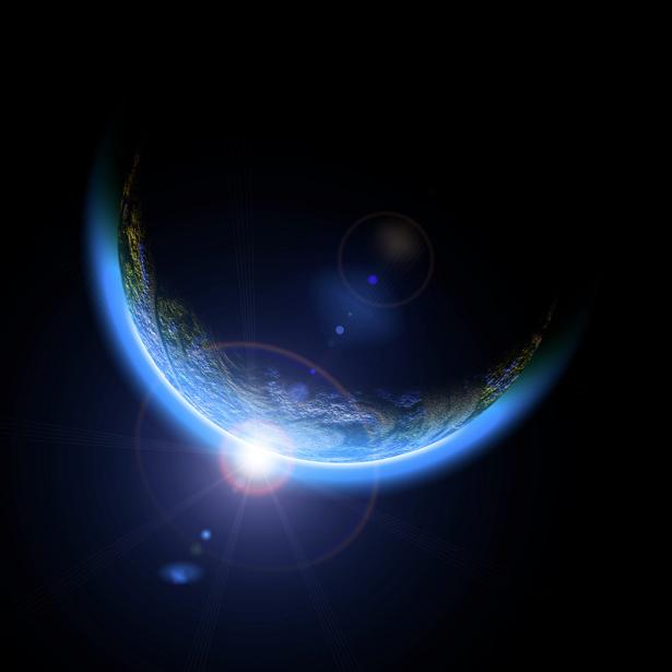 Фотообои планета на закате (space-0000022)
