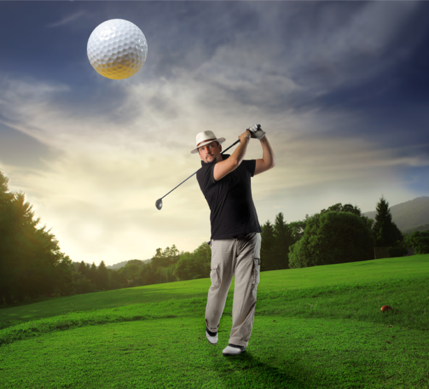 Фотообои гольфист трава (sport-0000062)