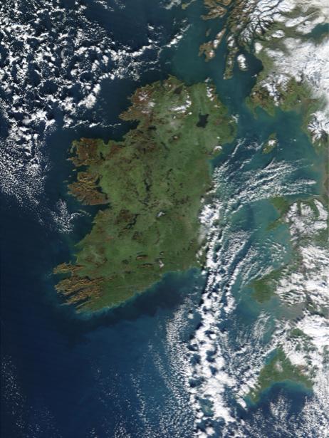 Фотообои NASA море острова (terra-00277)