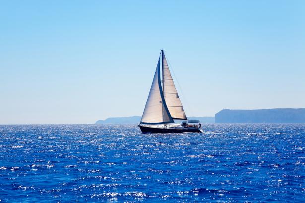 Фотообои яхта в море (transport-0000201)
