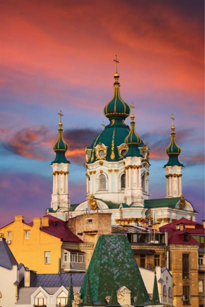 Фотообои Андреевская церковь в Киеве (ukr-35)