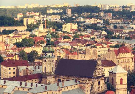 Фотообои Панорама крыш Львова (ukr-58)