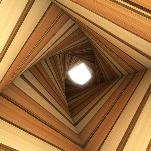 3D фотообои витой туннель (3d4)