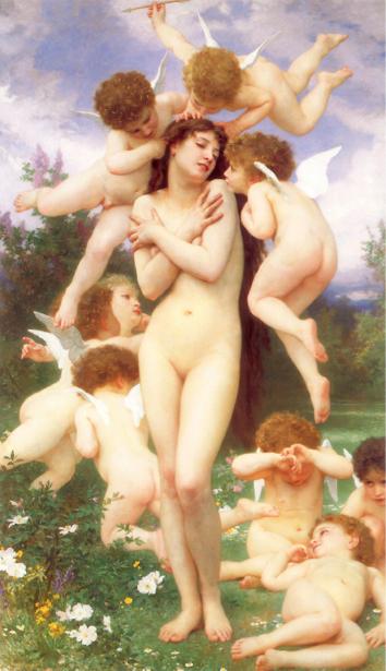 Обои - ангелочки картина Бугеро (angel-00002)