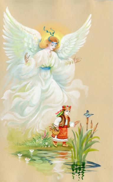 Рисованные обои Ангел (angel-00062)
