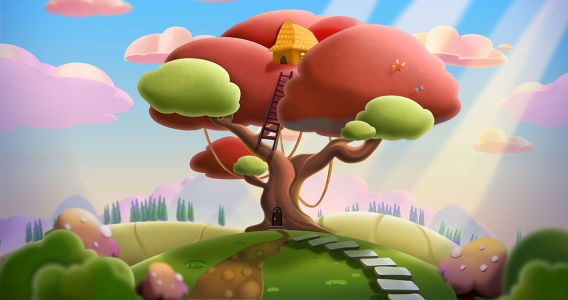 Фотообои Сказочное дерево (child-565)