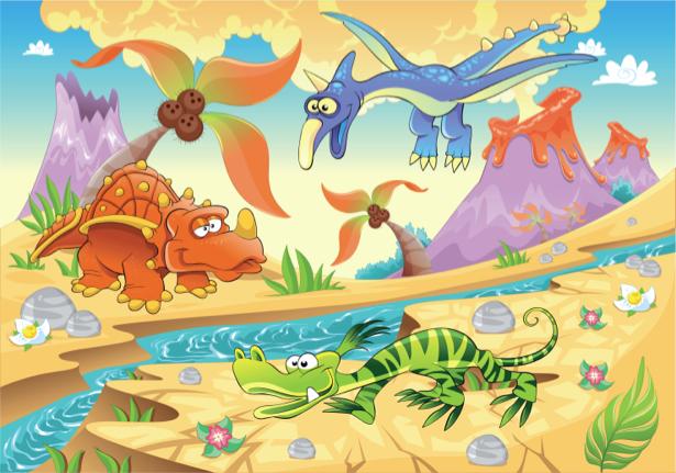 Динозаврики - Фотообои детские (children-0000267)