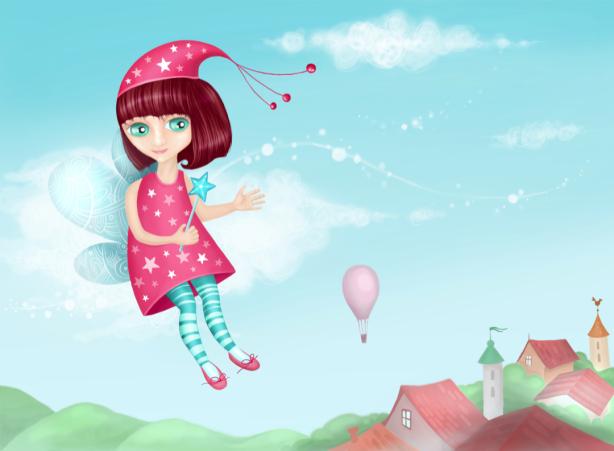 Фея - фотообои для девочек (children-0000376)