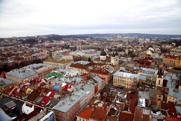 Фотообои Львов собор костел (city-0000646)
