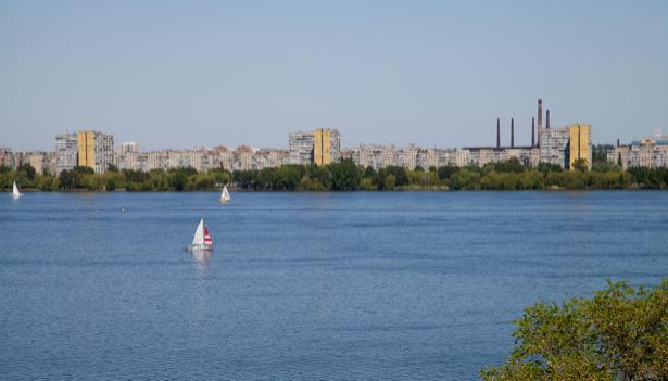 Фотообои Днепропетровск река Украина (city-0000841)