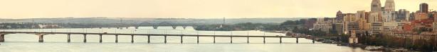 Фотообои Днепропетровск панорама мост (city-0000939)