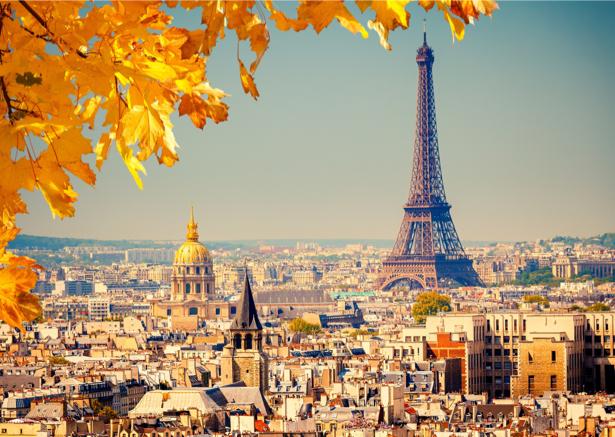 Фотообои париж панорамный вид (city-0001042)