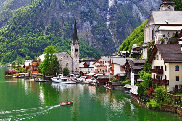 Фотообои австрийская деревня (city-0001054)