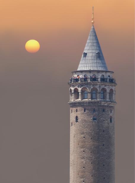 Фотообои башня галата стамбул (city-0001099)