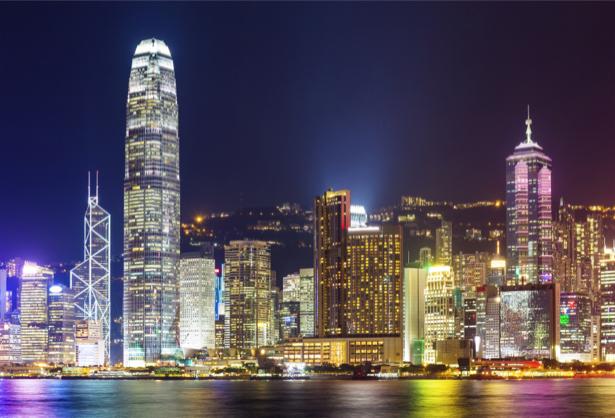 Фотообои ночной мегаполис башня (city-0001136)