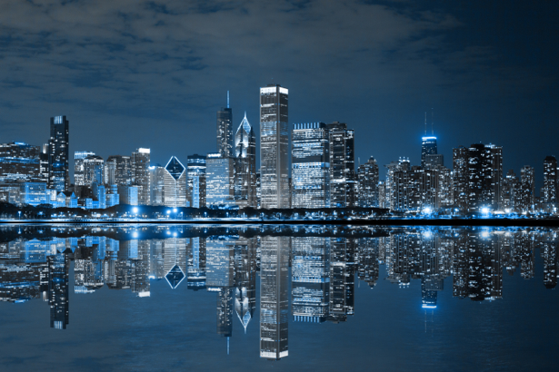 ночной город фотообои фото
