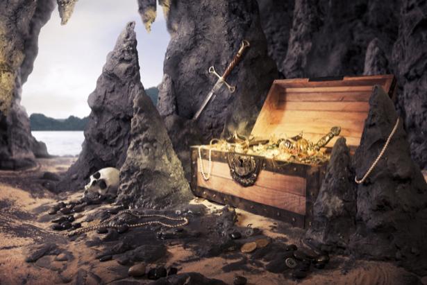 Фотообои пещера с сокровищами (fantasy-0000048)