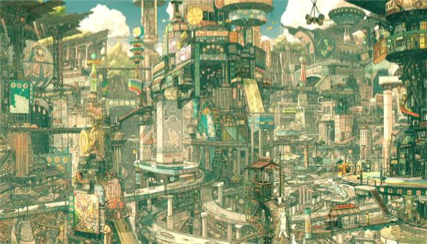Фотообои город будующего (fantasy-0000049)