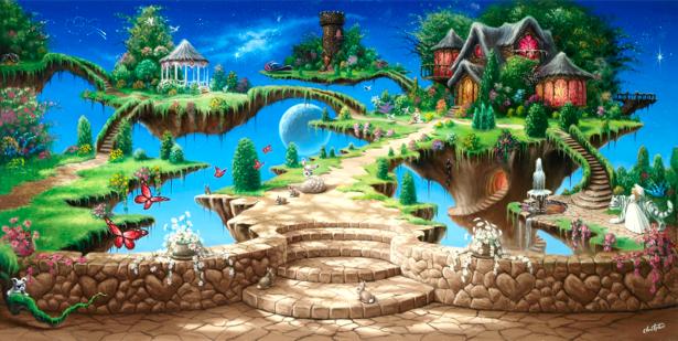 Фотообои сказочный город (fantasy-0000065)