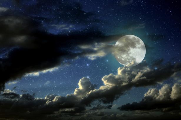 Фотообои луна и звёздое небо (fantasy-0000091)