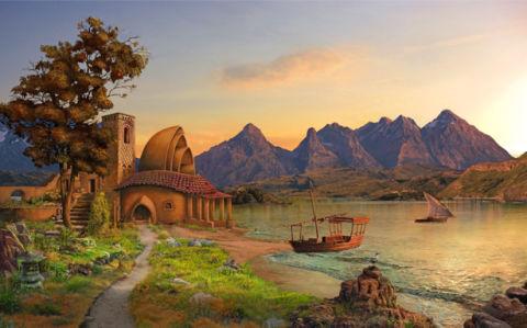 Фотообои пейзаж у моря (fantasy-0000156)