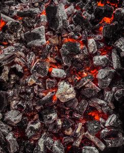 Фотообои тлеющие угольки (fire-019)