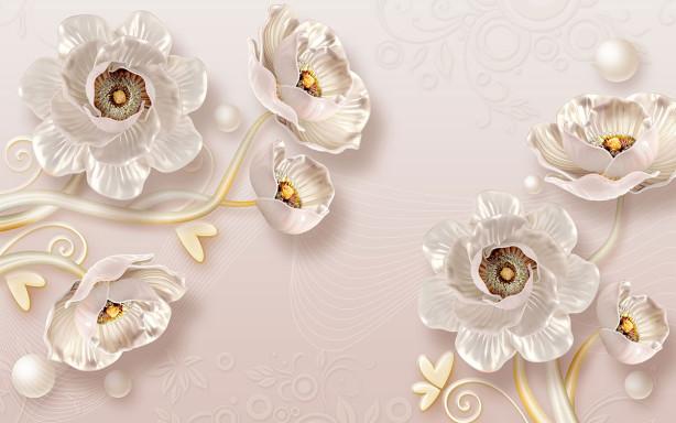 Фотообои декоративные нежные цветы (flowers-814)