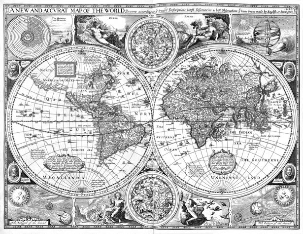 атлас, география, карты, старая карта (map-0000078)