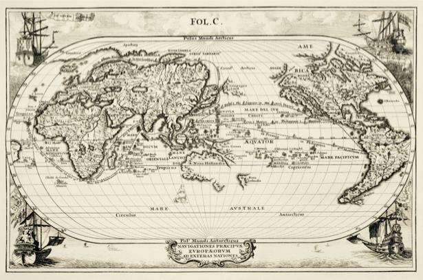 атлас, география, карты, старая карта (map-0000135)