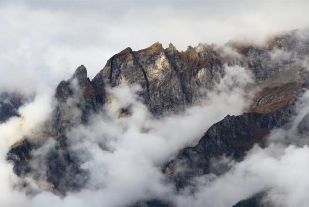 Фотообои горы в тумане (nature-0000794)